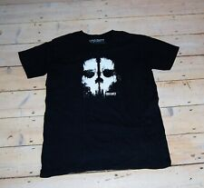 CALL OF DUTY GHOSTS BLACK T-SHIRT GAME TOP SMALL UNISEX BOYS S HEAVY COTTON