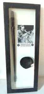 RARE DAYAK BORNEO HAND HUMAN FIGURE TATTOO NEEDLE & INK DISH IN WOODEN CASE.