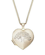 Moon & Back 9ct Gold Plated Silver Family Tree Locket