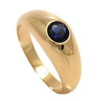 New 18ct Gold Filled Ladies Sapphire & Ruby Engagement / Wedding Ring