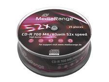 25 MEDIARANGE CD-R 700mb 80min cake cdr cd r cake da 25 mr201