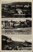 Bad Kösen DDR Mehrbildkarte 1955 gelaufen diverse Stadtansichten Rudelsburg