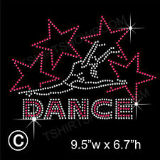 'Dance with Stars' Rhinestone Transfer Hotfix Iron on Appliqué with Free Gift