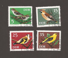 Germany DDR  Birds Set of 4 CTO