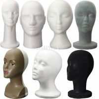 New Polystyrene Foam Male Female Mannequin Dummy Stand Model Shop Display Head