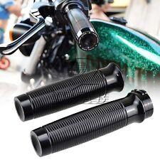 Custom Black Rough Crafts CNC Handlebar Grips F Harley Sportster 883 XL1200 48