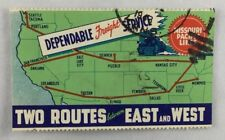 Scarce Large Antique Missouri Pacific Lines Railroad Railway Route Map Stamp