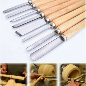 8pcs Wood Lathe Chisel Set Turning Tools Spear Woodworking Set