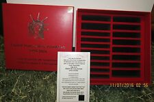1999-2016 proof set-RED,STORAGE BOX(holds 18 silver sets)-