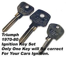 Ignition key blank set Triumph Stag Spitfire TR6 TR7 TR8 GT6 1970-80
