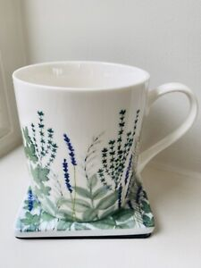 Gisela Graham Garden Herb Design Bone China Mug - Boxed - Spring / Easter