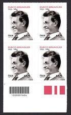 Italia 2014 : Enrico Berlinguer - quartina con codice a barre, MNH**