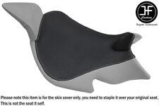 GREY & BLACK VINYL CUSTOM FITS BENELLI 1130 TNT 04-15 FRONT SEAT COVER