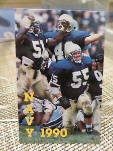 NAVY 1990 FOOTBALL POCKET SCHEDULE