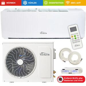 Split Klimaanlage Luftreinigung Lokales Klimagerät 9000 BTU 5in1 UV-C Smart 5m
