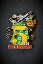 Hard Rock Cafe Changi Airport Singapore 5th Anniversary Airplane Pin 2013