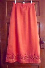 Skirt Orange Embroidered