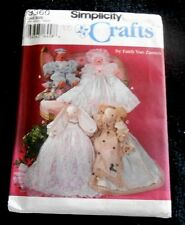 """Simplicity Crafts Pattern 9360 18"""" Bear, Bunny, Elephant & Clothes - New Uncut"""