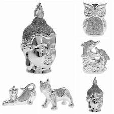 Silver Diamante Ornament Decorative Figurine Animal Statue Gift Indoor Outdoor