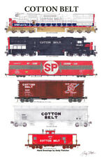 """Cotton Belt Freight Train 11""""x17"""" Poster by Andy Fletcher signed"""