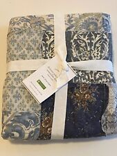 NWT Pottery Barn DELANEY PATCHWORK REVERSIBLE SHAM Cotton EURO 26 x 26 in