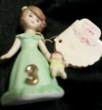 Growing Up Birthday Girl by Enesco Age 3 Brunette