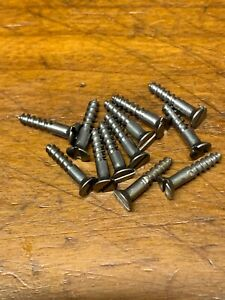 11//4 X 6 Steel Slotted Steel vintage Wood Screws Full Box 200