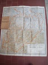 1940 GRANDE CARTA GEOGRAFICA DEL PIACENTINO DELLA CARTOLERIA STUCCHI DI PIACENZA