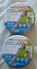 Two (2) Pet Action Adjustable Flea & Tick Collar Small Dog 6 Month New Free Ship