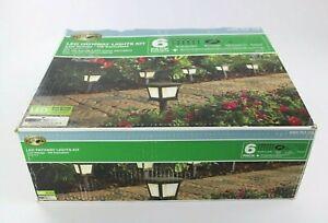 Hampton Bay HD33678BK Low Voltage Black Outdoor Integrated LED 6 Pack Kit