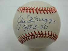 JOE DIMAGGIO HRS 361 PSA/DNA SIGNED AMERICAN LEAGUE BASEBALL AUTOGRAPH #H41756
