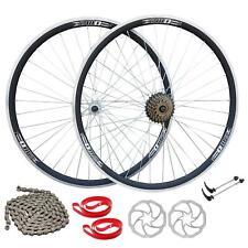 """26"""" MTB Bike Front Rear Wheel Set 6/7/8/9 Speed Double Wall Sealed Bearings Hubs"""