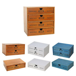Solid Wooden Storage Box Wood Drawer Jewelry Home Desk Organizer Jewelry Box