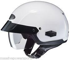 HJC IS-Cruiser Motorcycle Half Helmet White XXL 2XL 2X Sunshield DOT