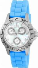 Invicta Speedway 21970 Women's Round Mother of Pearl Blue Day Date Analog Watch