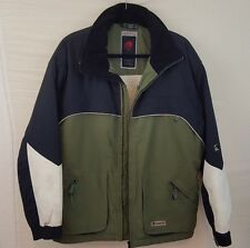 Ripzone Mens Jacket Snowboard Ski Coat Navy Green M Medium Water Repellent Vents