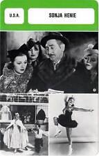 FICHE CINEMA :  SONJA HENIE -  USA (Biographie/Filmographie)