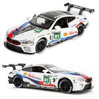 1/32 BMW M8 GTE Le Mans #81 Metall Die Cast Modellauto Spielzeug Pull Back