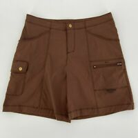 Title Nine Brown Nylon Blend Cargo Golf Shorts Womens 8