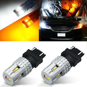 JDM ASTAR 3157 LED Switchback 12 SMD Dual Color White Yellow Turn Signal Lights