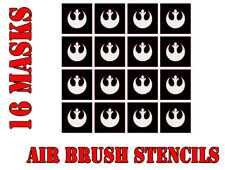 Star Wars X-Wing juego rebelde máscaras de pintura aerógrafo símbolo x20 (5 Mm)