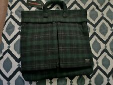 Brand New HEAD PORTER HELMET TOTE 3-Ways Bag with Green Checked Pattern 2