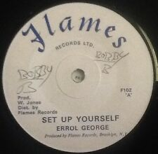ERROL GEORGE - Set Up Yourself. US Flames 45'. Reggae Dub Killer.