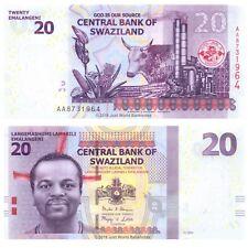 Swaziland 20 Emalangeni 2014 P-37b First Prefix 'AA' Banknotes UNC