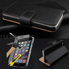 CellBoutique Slim Cover Slim Leather Case For iPhone 5 5S Free Tempered Glass