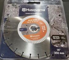 "Husqvarna 14"" Diamond Saw Blade Banner Line Blue 200B Cured Concrete Granite"