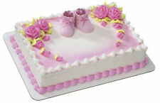 Pink Baby Booties Shower Girl cake decoration Decoset cake topper set