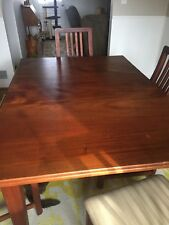 Shaker-style dining room table, 4 chairs and craftsman-style china cabinet