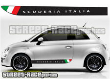Fiat 500 side Racing Stripes 010 Scuderia Italia Autocollants Vinyle Graphique Autocollants
