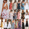 BOHO Womens Ladies Summer Beach Midi Dress Holiday Strappy Sun Dresses Lot